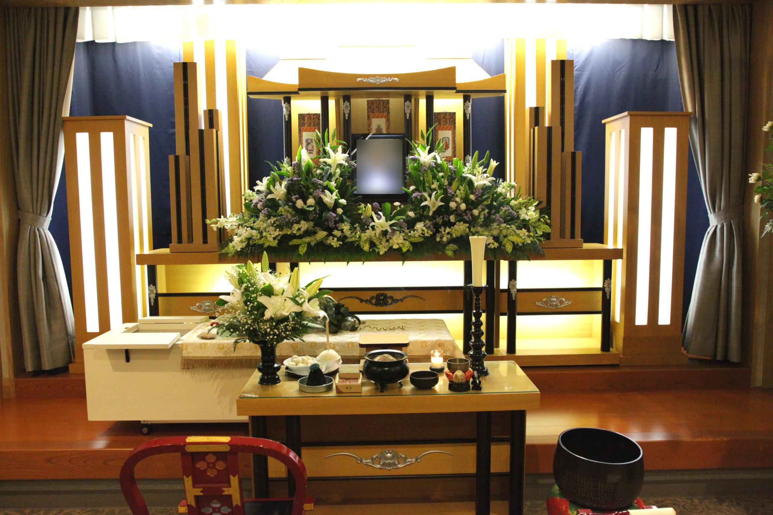 家族葬祭壇15万円