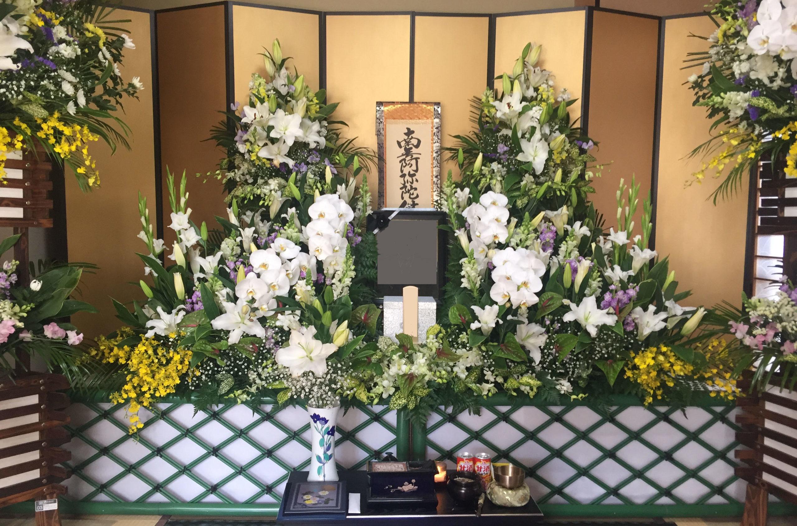 自宅葬祭壇25万円